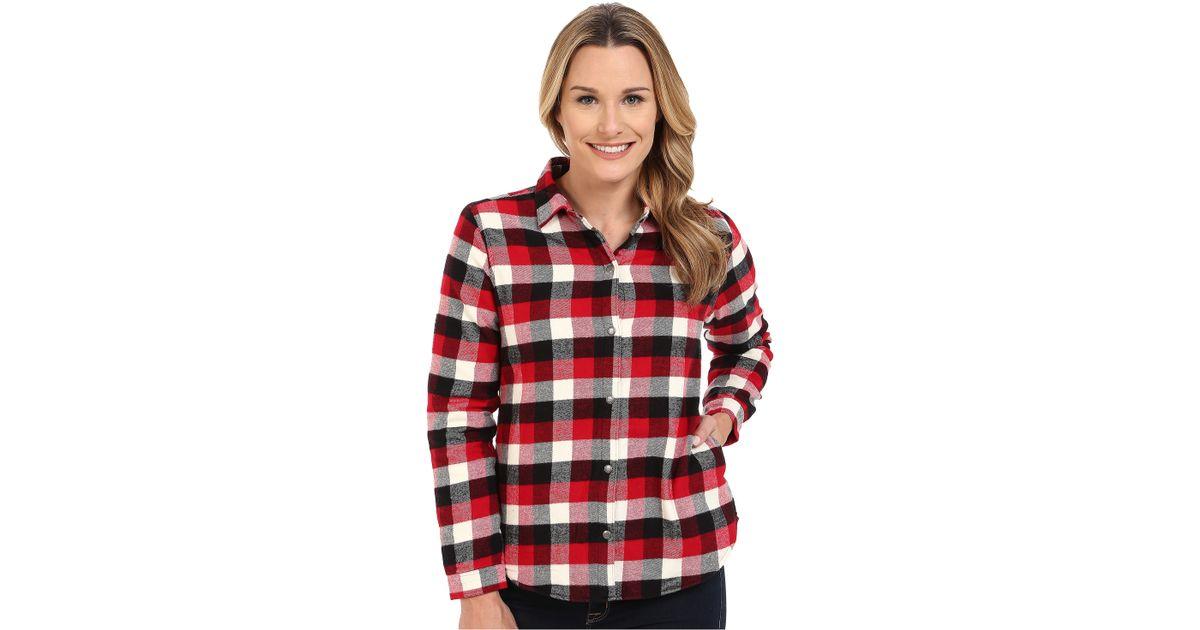 Woolrich pemberton fleece lined flannel shirt jacket lyst for Fleece lined flannel shirt