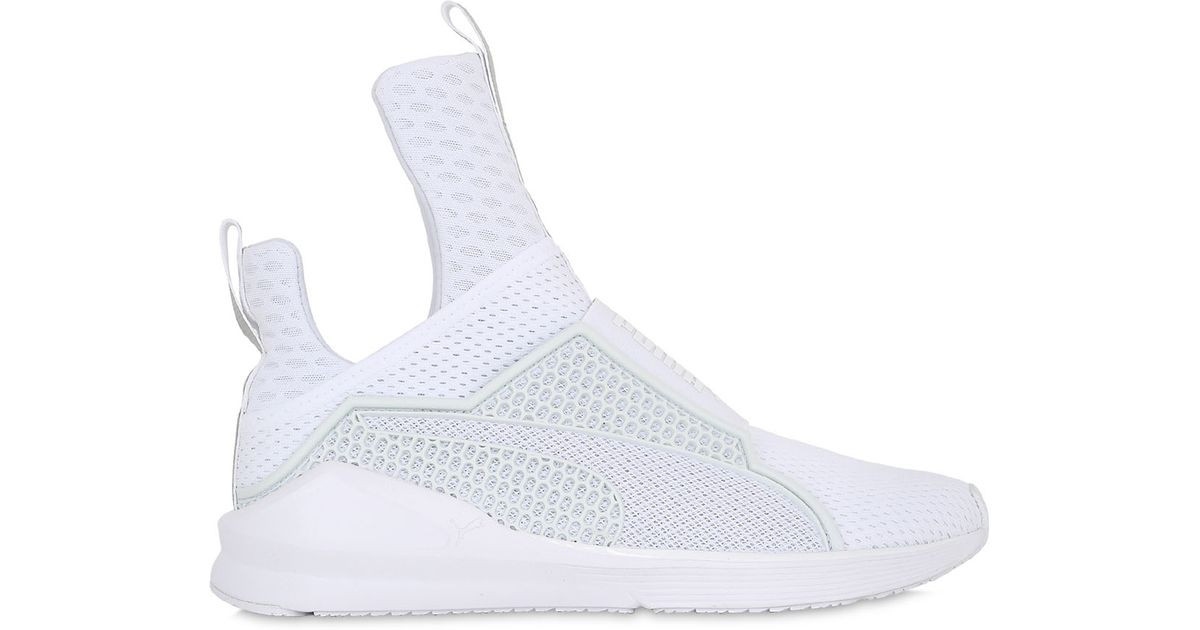 various colors 1619a 7b02c Puma Select White Rihanna Fenty Fierce Reflective Sneakers