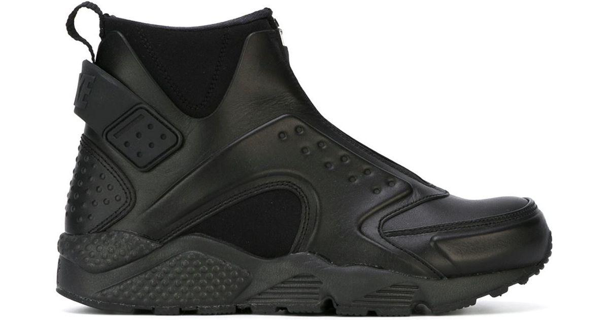 detailed look various colors info for Nike Black 'air Huarache Run Mid' Hi-top Sneakers
