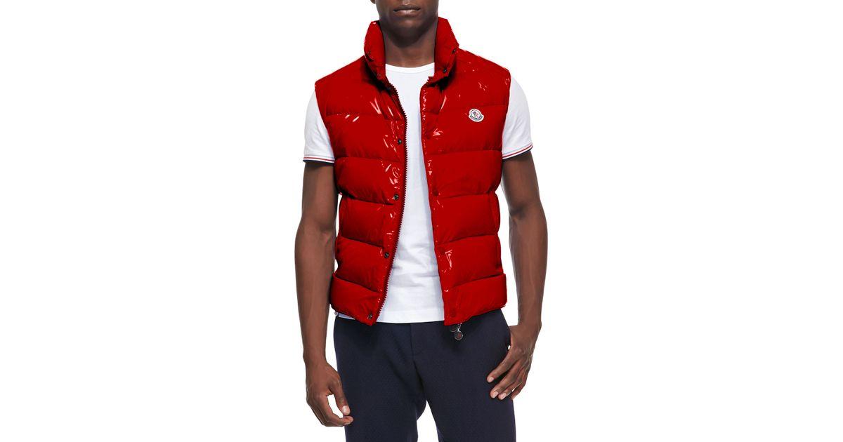 0998767eb Moncler Red Tib Puffer Vest for men