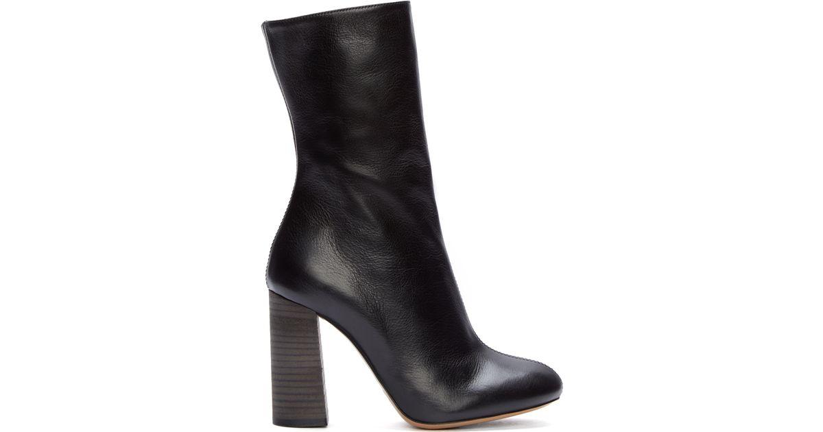 Chloé Leather Mid-Calf Boots buy cheap Manchester desQL