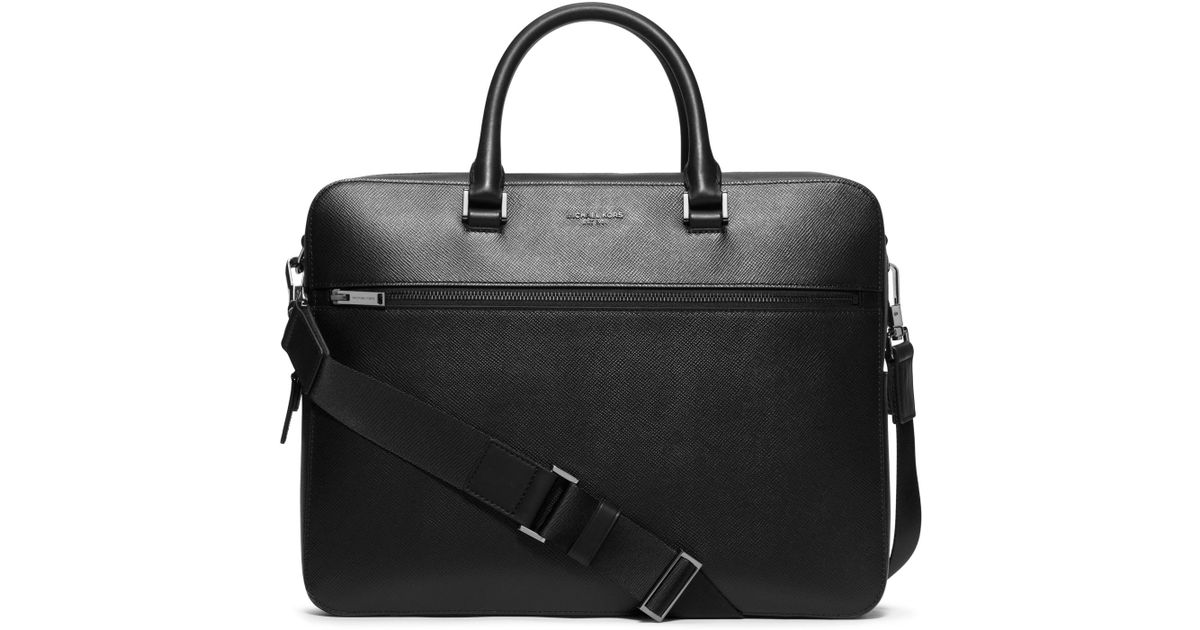 0506c408e924 Lyst - Michael Kors Harrison Large Leather Briefcase in Black for Men