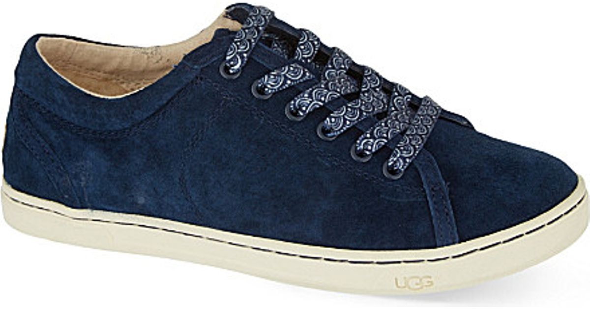 9d6144b8a18 UGG Blue Tomi Suede Lace Up Trainers