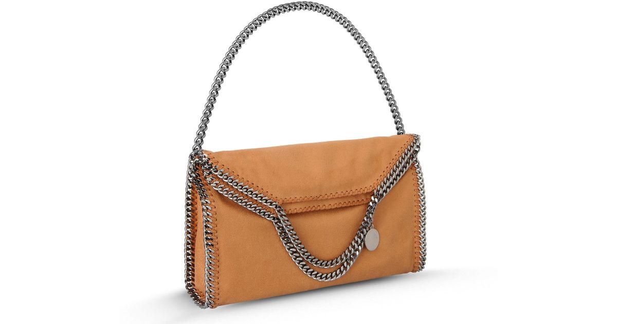 f57a744bb1d5 Lyst - Stella McCartney Tan Falabella Shaggy Deer Fold Over Tote in Natural