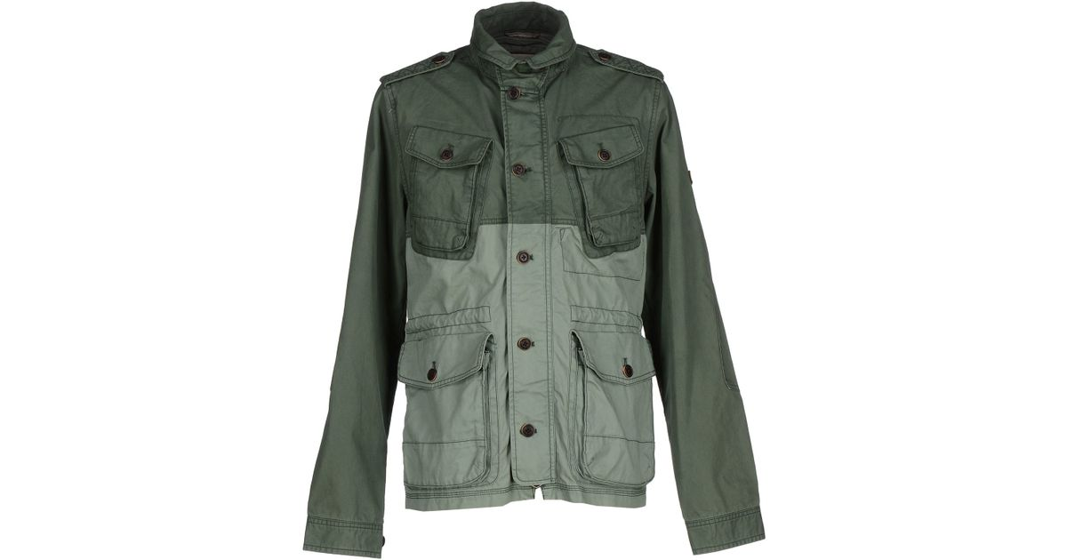 hilfiger denim jacket in green for men lyst. Black Bedroom Furniture Sets. Home Design Ideas