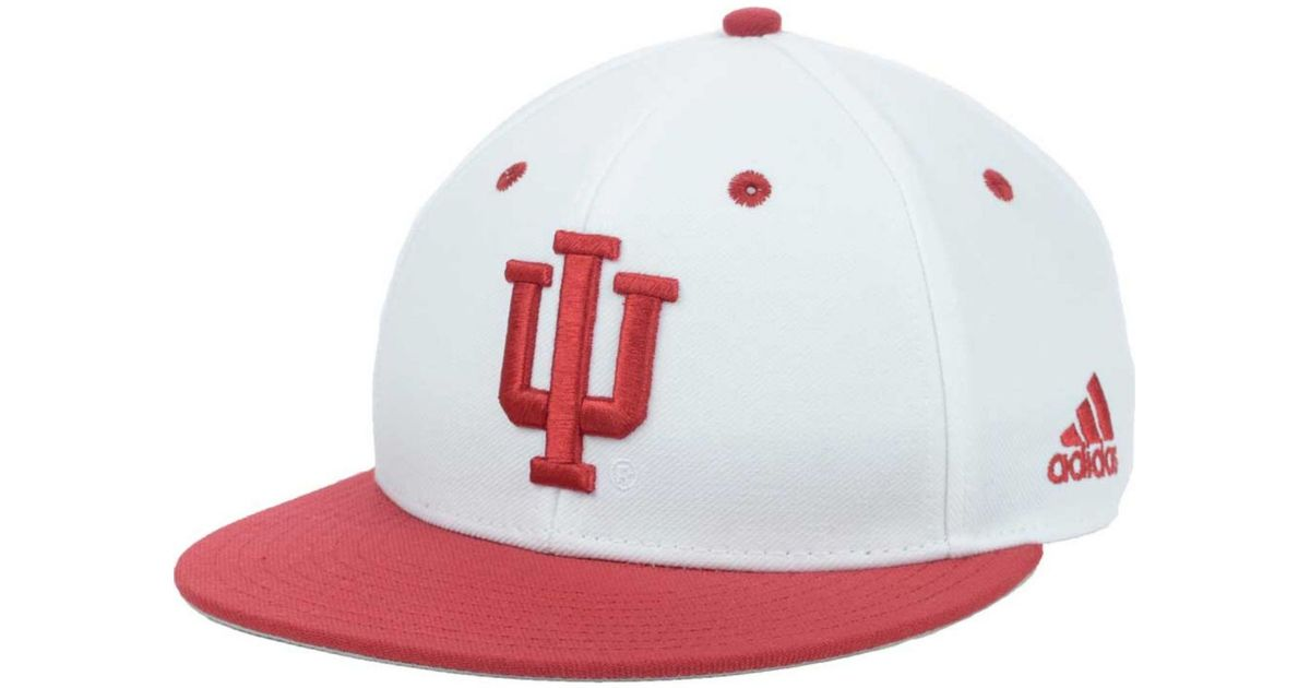 on sale 414d6 b8693 ... australia lyst adidas originals indiana hoosiers ncaa on field baseball  cap in white for men 72169