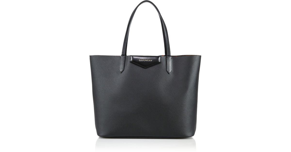 1c709dc762da Lyst - Givenchy Antigona Small Coated Canvas Shopping Tote in Black