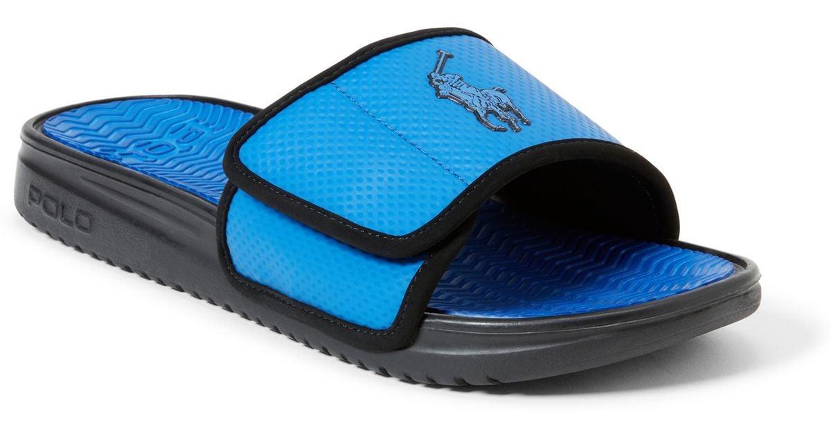 512bc51d7db Polo Ralph Lauren Romsey Slide Sandal in Black for Men - Lyst