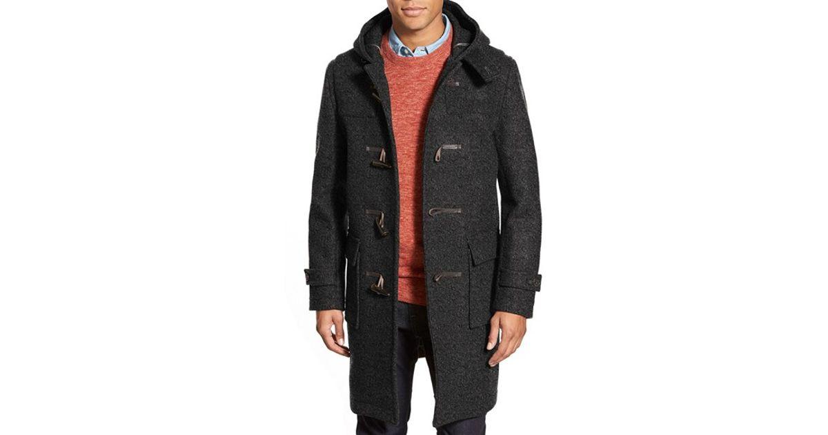 Mackintosh Longline Wool Duffle Coat in Gray for Men   Lyst