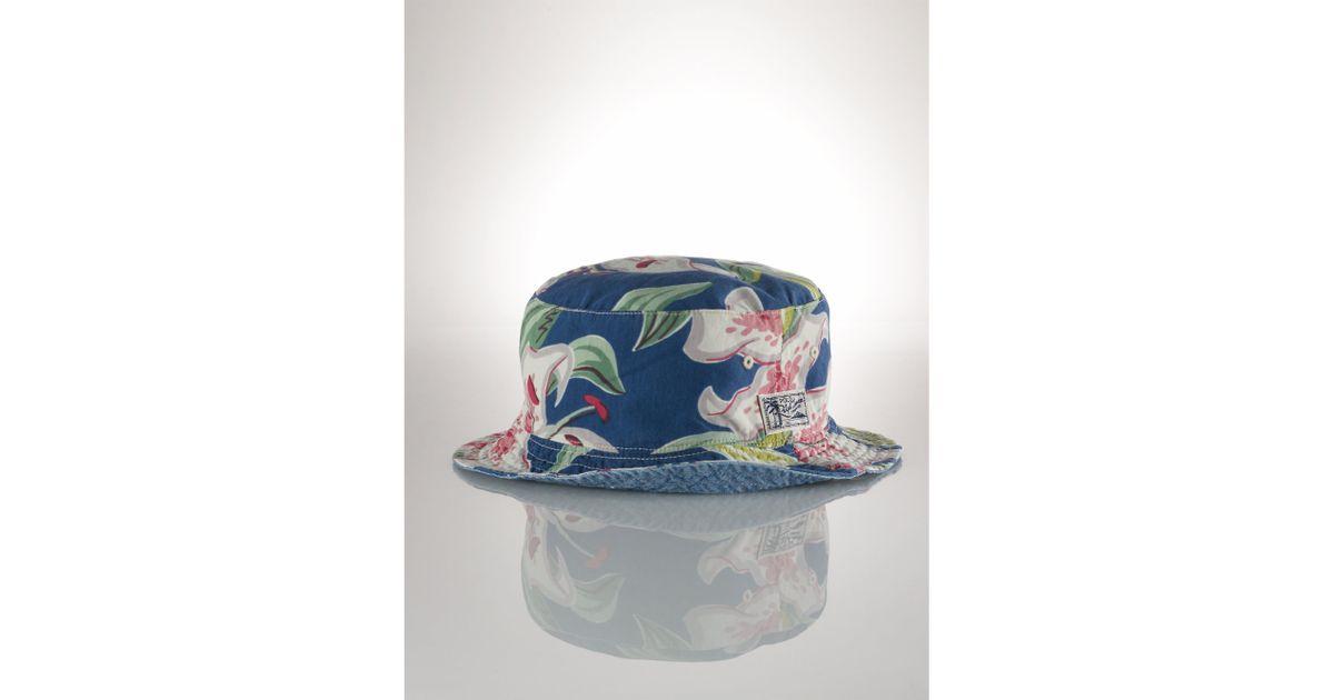 19557e5e229 Lyst - Polo Ralph Lauren Reversible Floral Bucket Hat in Blue for Men