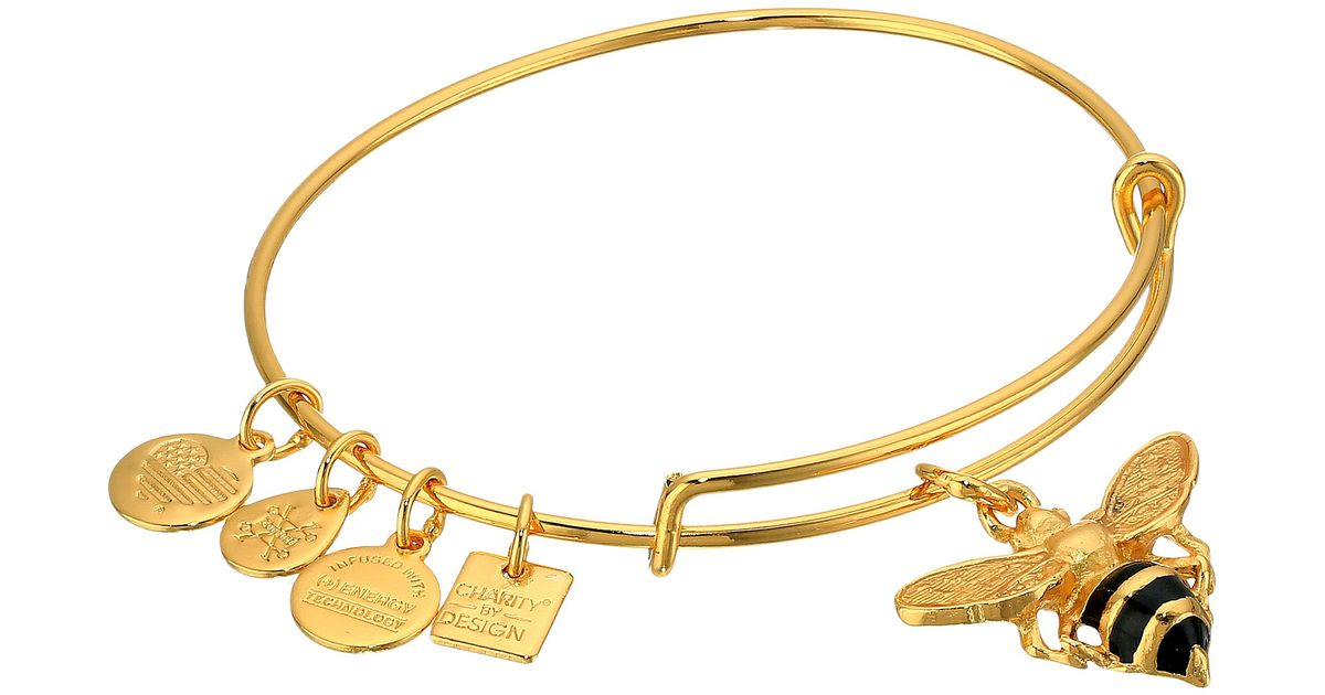 83b0a48773c Lyst - ALEX AND ANI Charity By Design Bumble Bee Bracelet in Metallic
