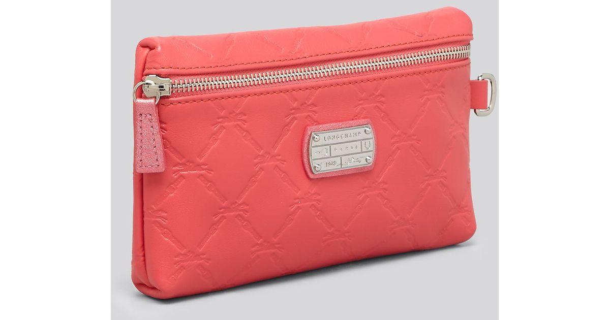 Enjoy Cheap Portable Longchamp LM Purse Red
