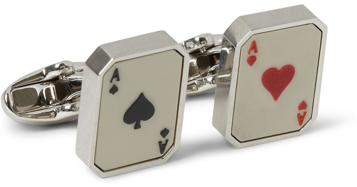 Playing Card Cufflinks Silver Cufflinks