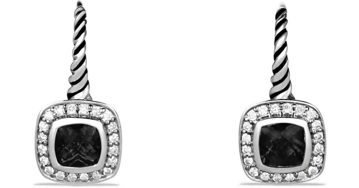 David Yurman Albion Drop Earrings With Black Onyx And