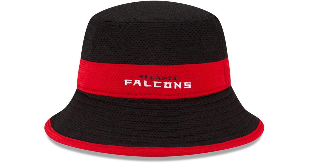 5abcc9d0c67 amazing selection 48173 0f6d2 Lyst - Ktz Atlanta Falcons Training Camp  Reverse Bucket Hat in Black ...