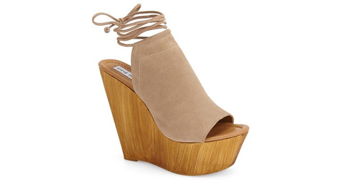 4e320f0be4b Steve Madden Natural 'bonelli' Platform Wedge Sandal