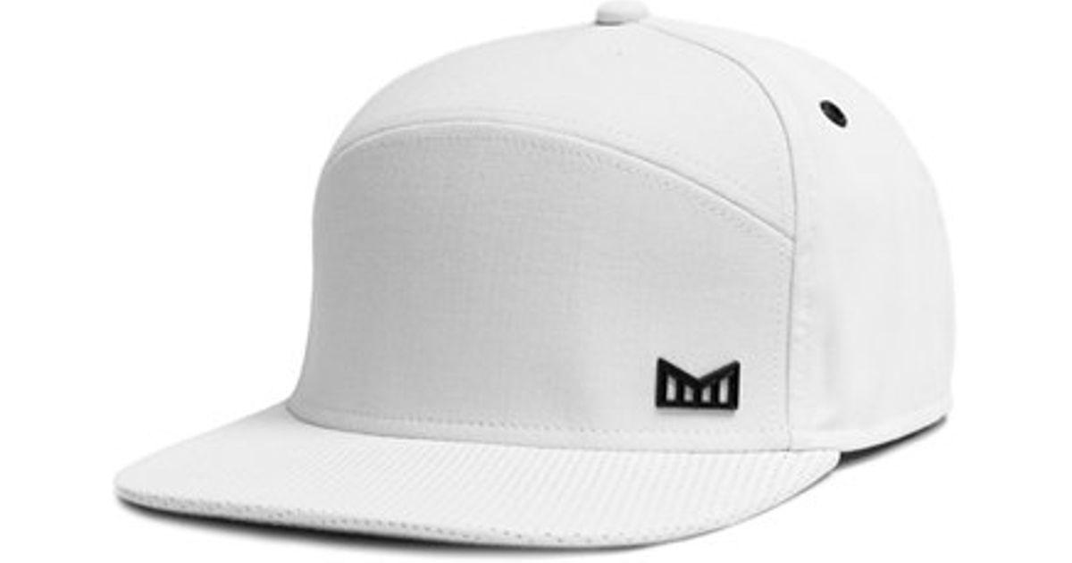 outlet store 00b43 85d1e ... greece lyst melin the vision horizon fit flat brim baseball cap in  white for men d8c51