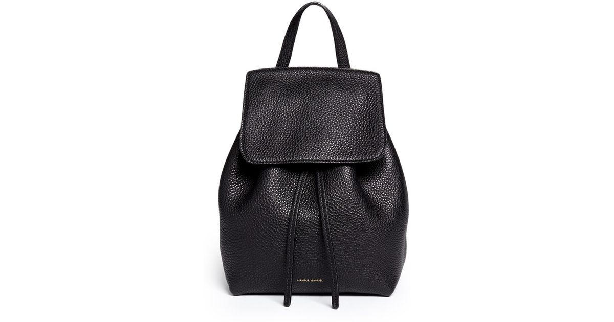 f7d246118cc Mansur Gavriel Black Mini Tumbled Leather Backpack