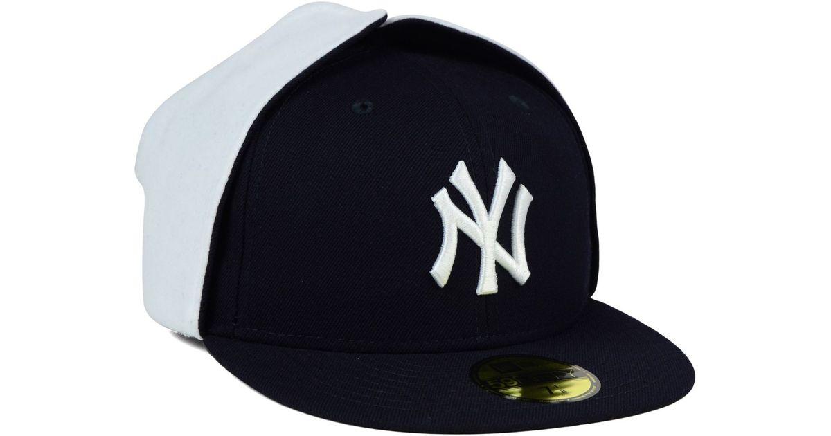 31268cfa1 KTZ Blue New York Yankees Dog Ear 59fifty Cap for men