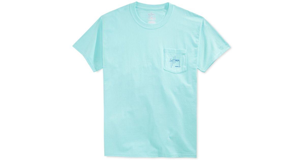 89099c5d3485 Guy Harvey Marlin Boat Pocket T-shirt in Blue for Men - Lyst