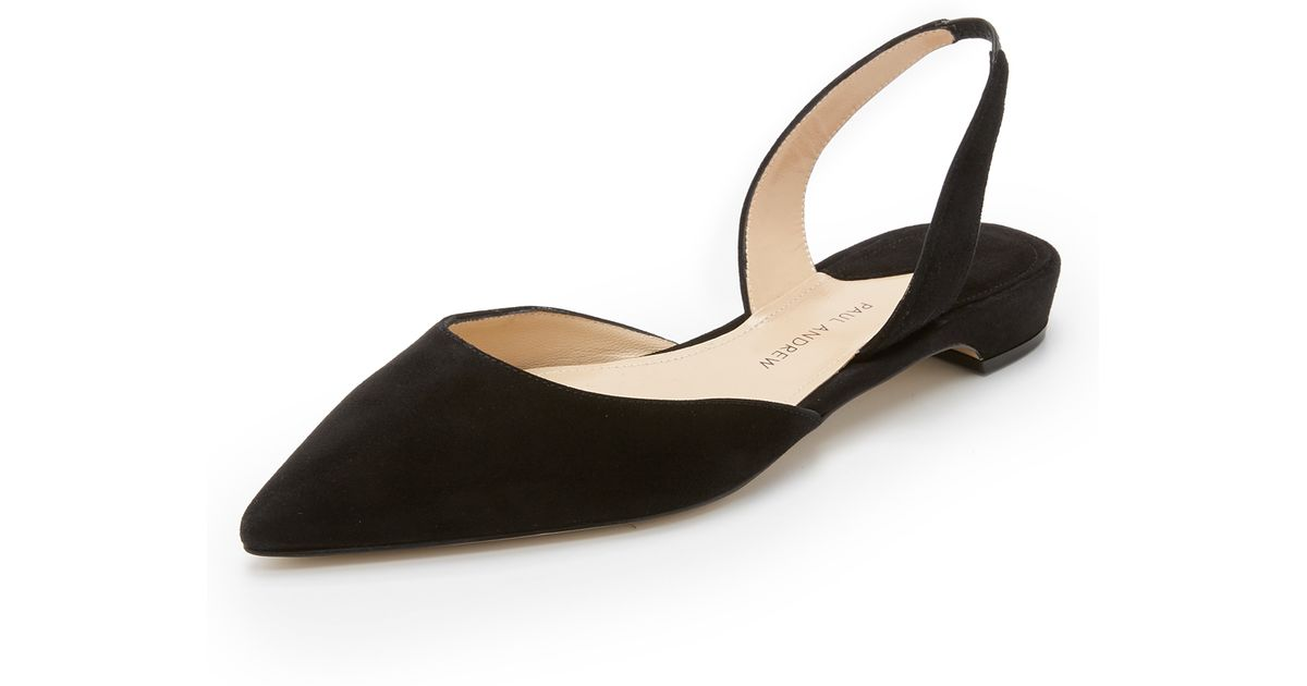 Rhea Leather Point-toe Flats - Black PAUL ANDREW ZdWoy