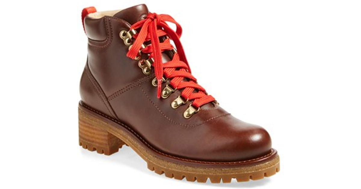 05b3d7a6c6e Lyst - Tory Burch  gunton  Ankle Hiking Boot in Brown