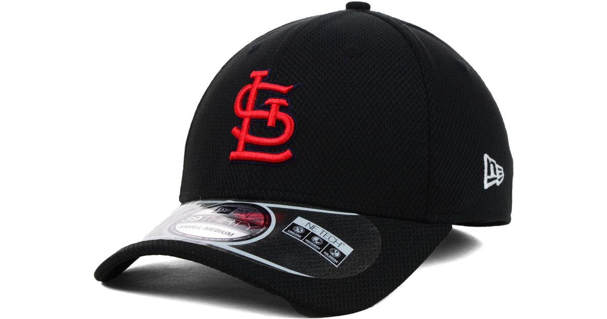 8f7bb44ee8df6 KTZ St. Louis Cardinals Mlb Diamond Era Black 39thirty Cap in Black for Men  - Lyst