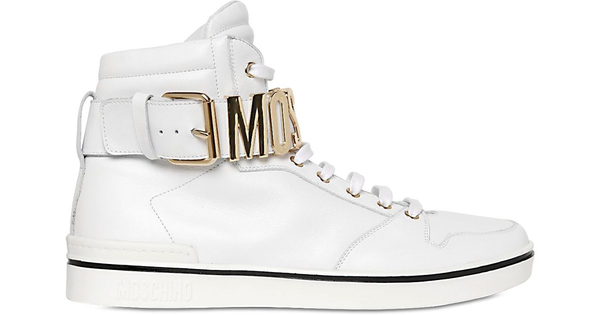 Moschino Logo Lettering Leather High