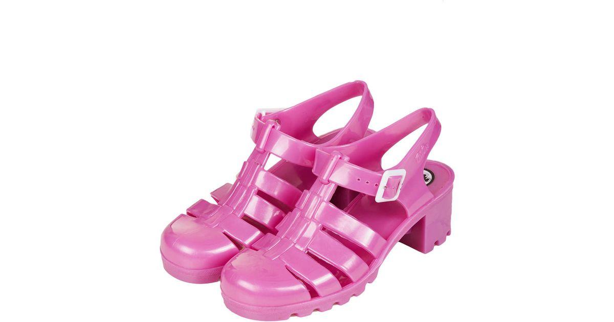 d8fd44efa98 TOPSHOP Purple Nina Heeled Jelly Sandals