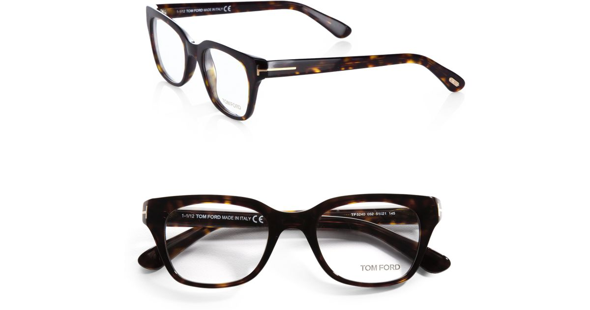tom ford 5240 square optical frames in brown for lyst