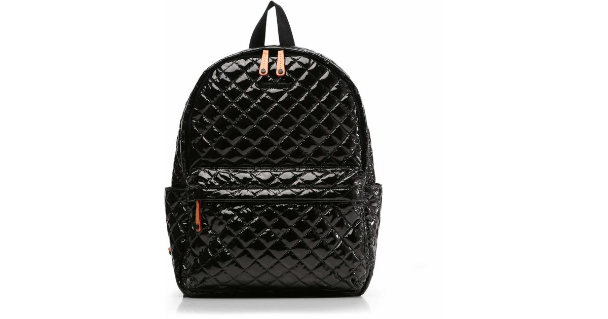 c09308be09 MZ Wallace Black Lacquer Metro Backpack in Black - Lyst