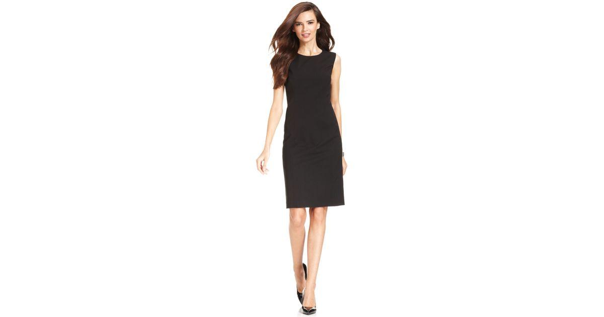 Lyst Jones New York Sleeveless Sheath Dress In Black
