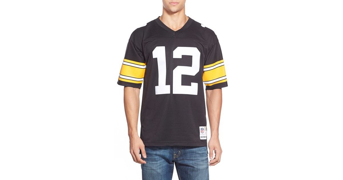 online store dc1ea d94e8 Mitchell & Ness Black 'terry Bradshaw' Replica Jersey for men