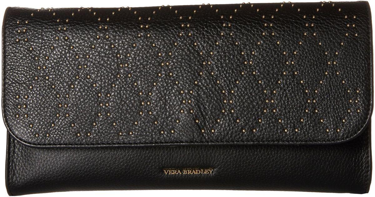 4ee2aa2fdb45 Lyst - Vera Bradley Micro-stud Harper Clutch in Black
