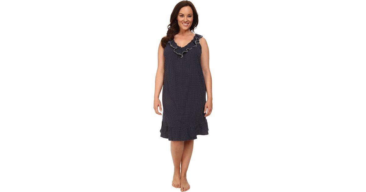 Lyst Lauren By Ralph Lauren Plus Size Essentials Ruffle Short Gown