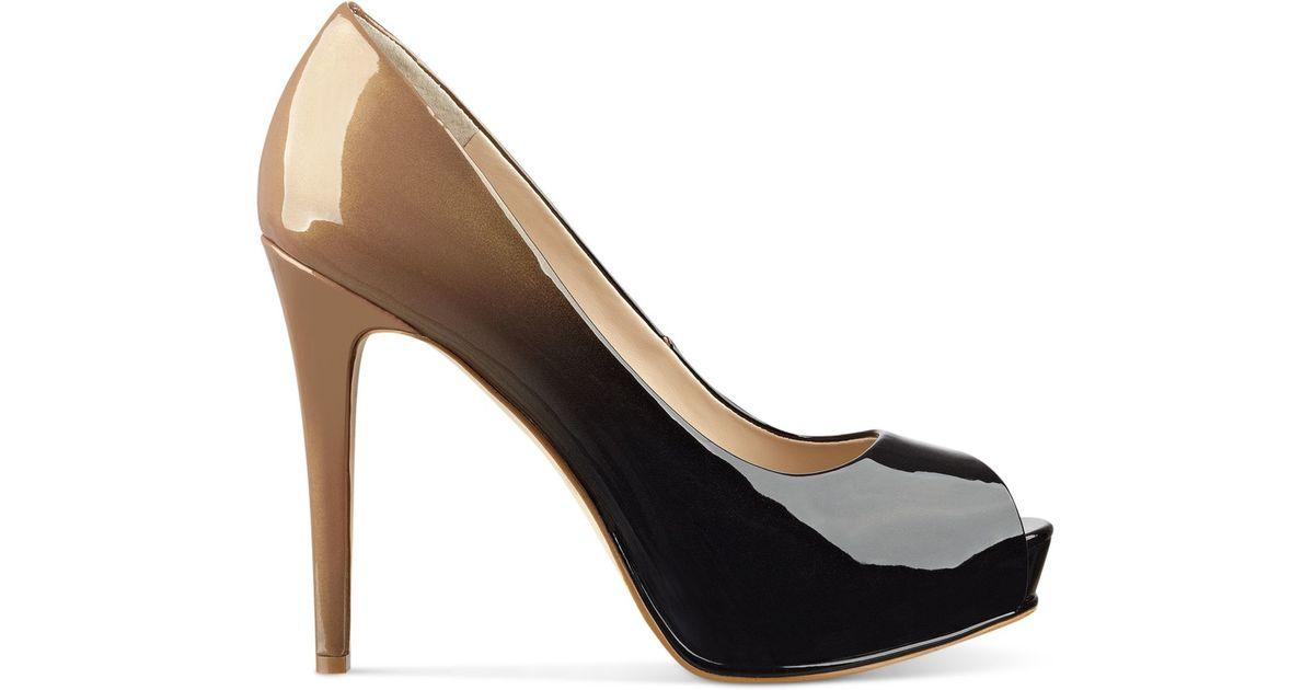 Guess Black Peep Toe Shoes