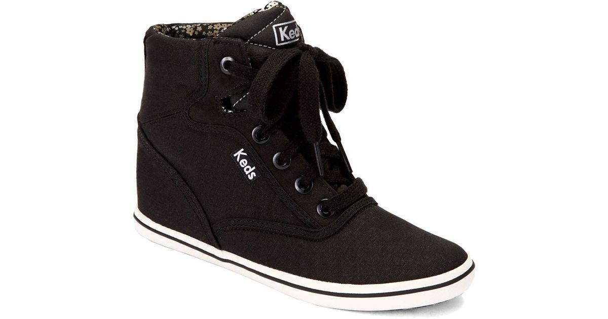 Keds Rookie Wedge Sneakers in Black - Lyst