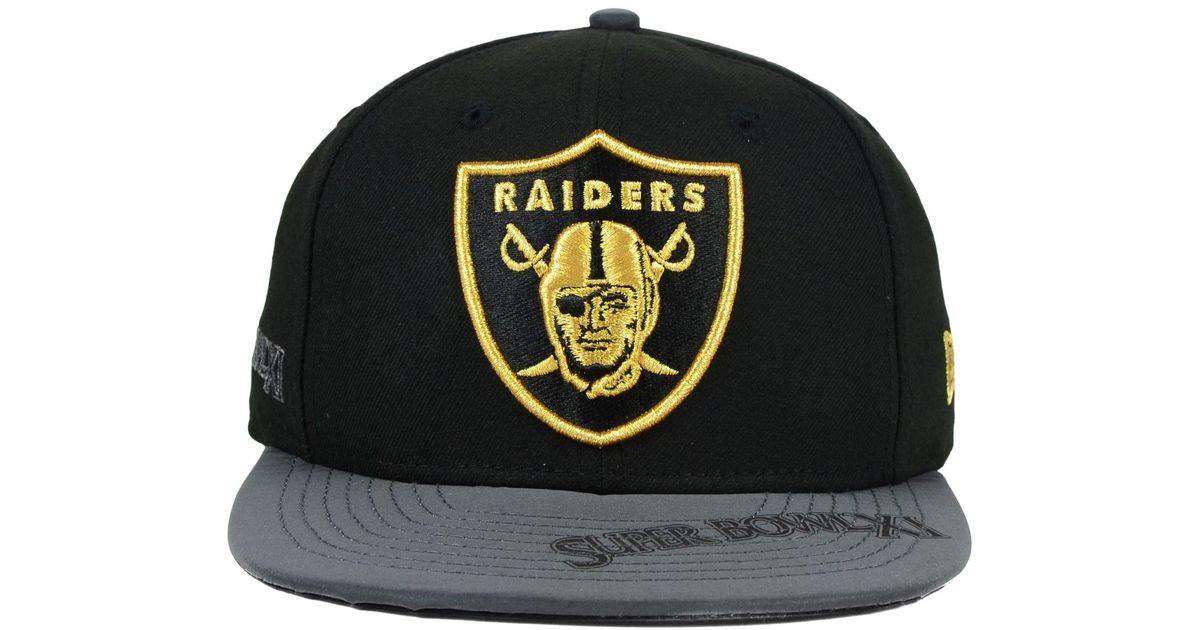 best sneakers 2aa12 512a2 KTZ Oakland Raiders Super Bowl 50 Edge 9fifty Snapback Cap in Black for Men  - Lyst