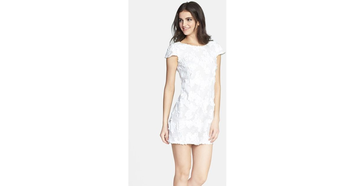 ae0696ccf0a46 Lyst - Dress the Population  brooke  Sequin Minidress in White