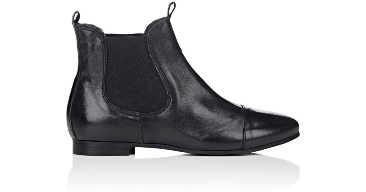 barneys new york s cap toe chelsea boots in black