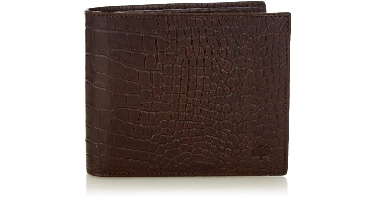 ad8b2ed151 Mulberry Crocodile-Effect Leather Wallet in Brown for Men - Lyst