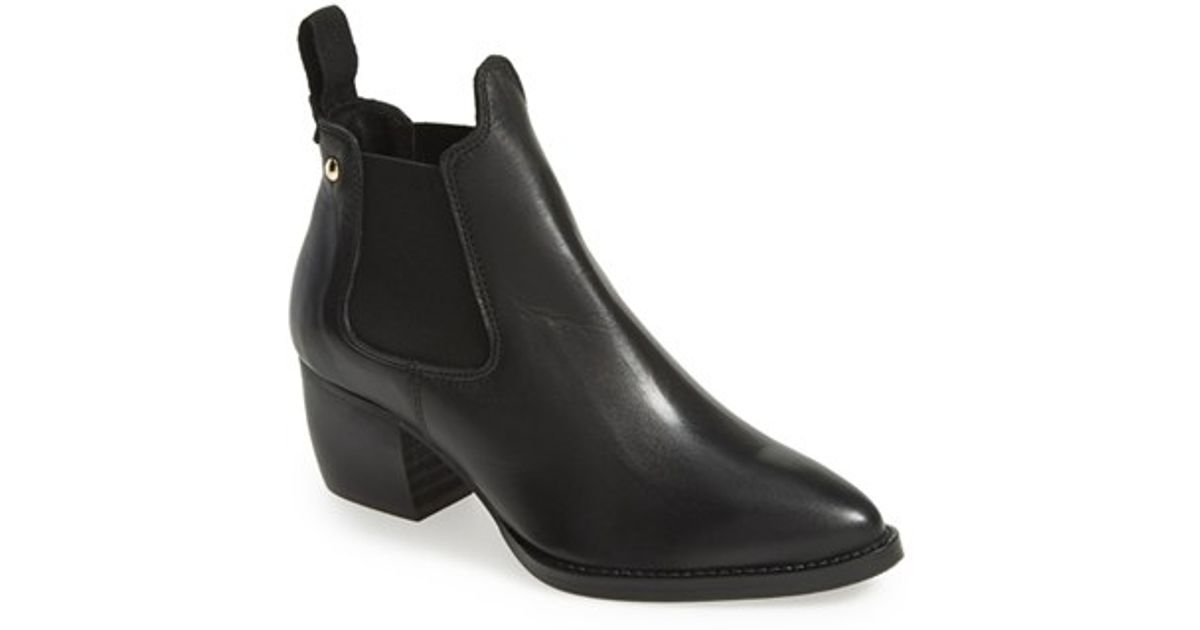 4c0c912f050c Lyst - TOPSHOP 'margot' Leather Ankle Bootie in Black