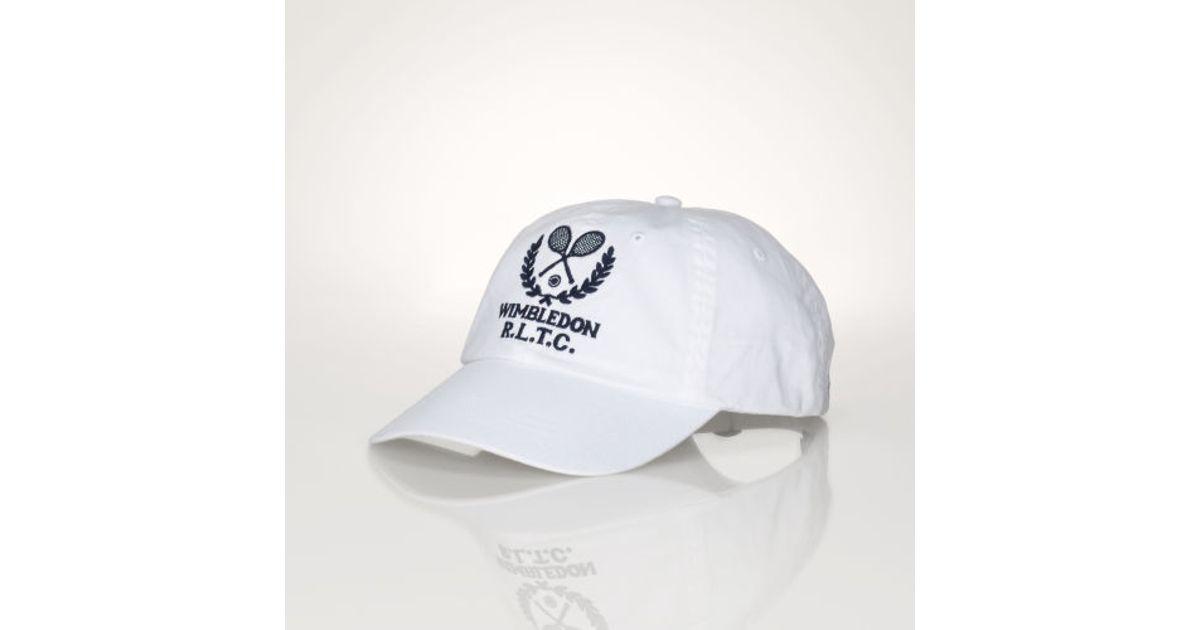 Lyst - Polo Ralph Lauren Wimbledon Cotton Cap in White for Men c3fd6dd63aa5