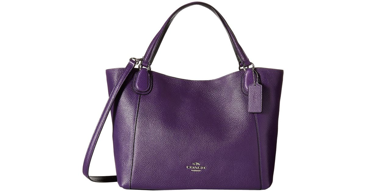 Purple Leather Coach Purse Best Image Ccdbb