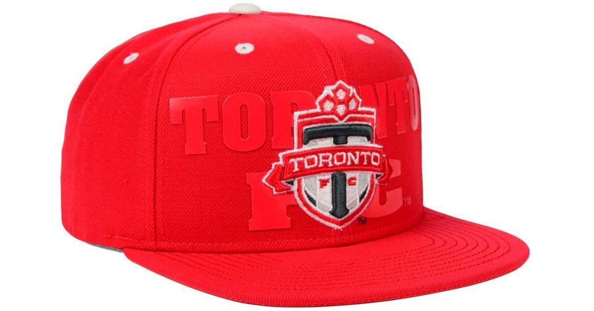 online retailer ca6c7 ab6c9 Adidas Originals Red Toronto Fc Academy Snapback Cap for men
