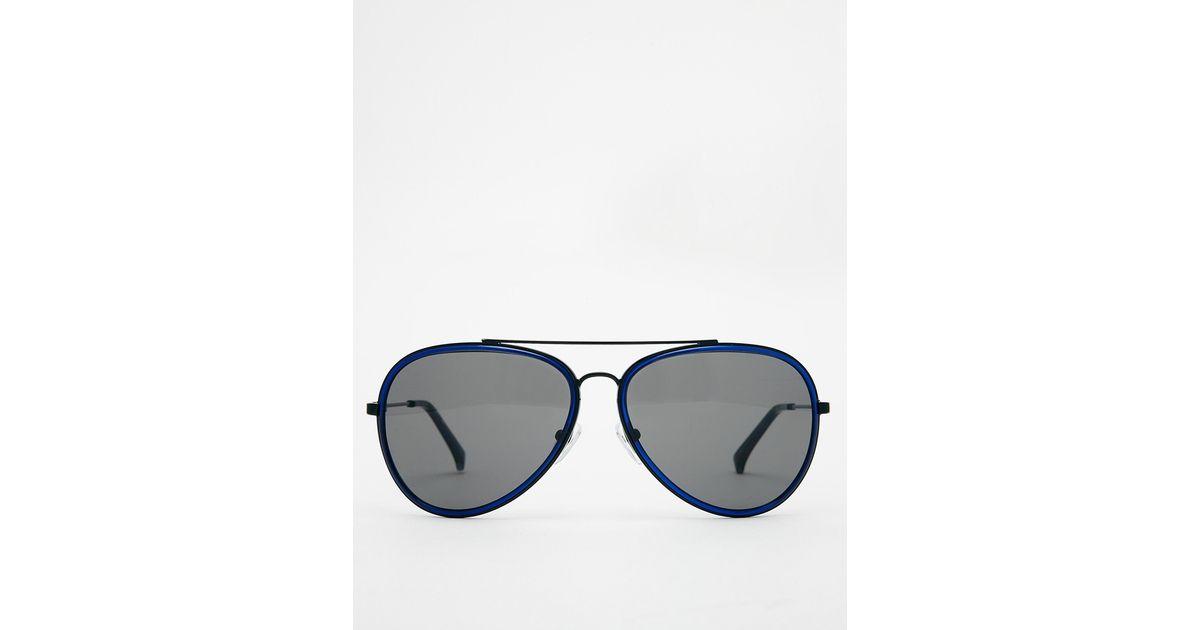 a9dcb29885eb Lyst - Calvin Klein Ck Jeans Aviator Sunglasses in Blue for Men