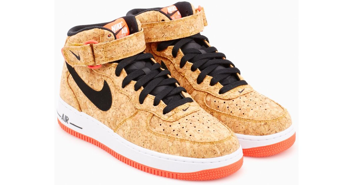 info pour be838 f8092 Nike - Natural Air Force 1 Mid '07 Cork Sneakers for Men - Lyst