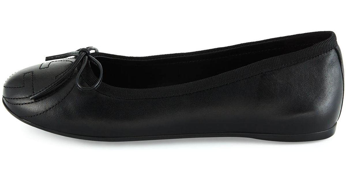 088434d07c58 Lyst - Gucci Soho Leather Ballet Flats in Black