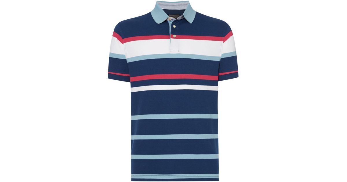 bf972a84b08 Lyst - Howick Sparsholt Engineered Polo in Blue for Men