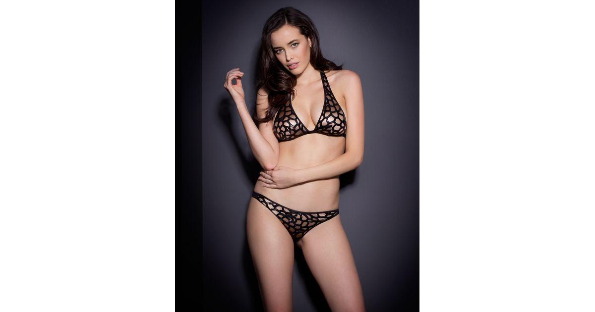 Agent Provocateur Varla Bikini Bra Black in Black - Lyst 5ad03f2b9